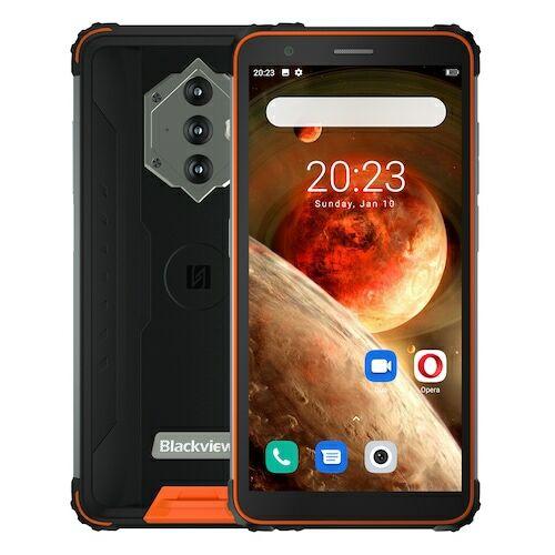 EU ECO Raktár - BlackView BV6600 IP68 Vízálló 8580mAh 4G Okostelefon Octa Core 4GB + 64GB 5.7 inch FHD Mobile Phone 16MP Camera NFC Android 10 - Narancs