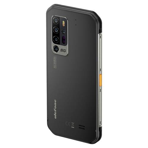EU ECO Raktár - Ulefone Armor 11 5G Rugged Okostelefon IP68 IP69K Vízálló 6.1 inch MTK Dimensity 800 Octa Core 8GB RAM 256GB ROM 48MP Penta AI Camera NFC 5200mAh Battery - Fekete