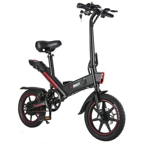 EU ECO Raktár - DOHIKER Y1 Folding Electric Bicycle 350W 36V Vízálló Elektromos E-Bike Kerékpár - Fekete
