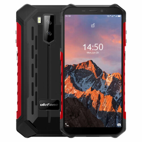 EU ECO Raktár - Ulefone Armor X5 Pro 5.5 Inch NFC IP68 IP69K Vízálló 4GB RAM 64GB ROM 5000mAh MT6762 Octa Core 4G Okostelefon - Piros