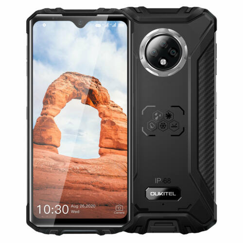 EU ECO Raktár - OUKITEL WP8 Pro IP68IP69K Vízálló NFC Android 10 5000mAh 6.49 inch 16MP 4GB RAM 64GB ROM MT6762D 4G Okostelefon - Fekete