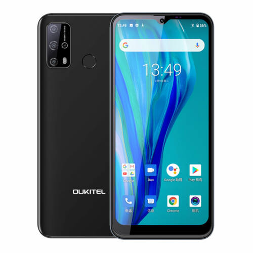 OUKITEL C23 Pro 5000mAh 4GB RAM 64GB ROM MT6762V 6.53 inch Android 10 13MP 4G Okostelefon - Fekete