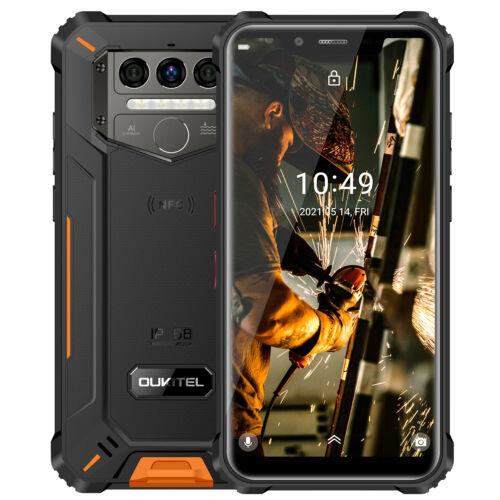 EU ECO Raktár - OUKITEL WP9 IP68 IP69K Vízálló 6GB RAM 128GB ROM NFC 8000mAh 5.86 inch 16MP 4G Okostelefon - Narancs