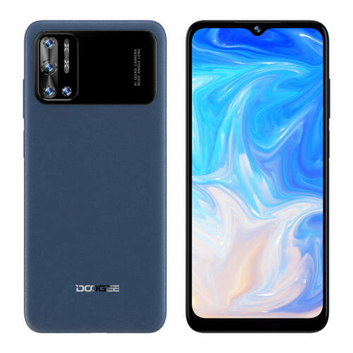 EU ECO Raktár - DOOGEE N40 Pro 6GB RAM 128GB ROM Helio P60 6.52 inch Display Android 11 6380mAh 20MP Quad Camera 24W Gyorstöltéssel 4G Okostelefon - Kék