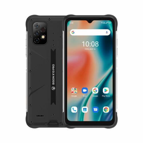 UMIDIGI BISON X10 Pro IP68 IP69K Vízálló NFC 6150mAh Android 11 6.53 inch Triple Camera 4GB RAM 128GB ROM Helio P60 4G Okostelefon - Fekete