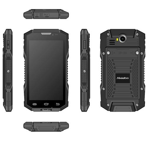 EU ECO Raktár - HUADOO HG06S 3GB RAM 4G 3GB RAM 32GB ROM 13.0MP Rear Camera 3600mAh Built-in IP68 Vízálló NFC OTG Okostelefon - Fekete