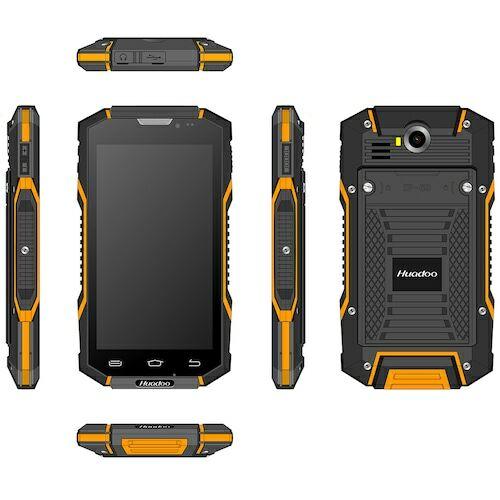 EU ECO Raktár - HUADOO HG06S 3GB RAM 4G 3GB RAM 32GB ROM 13.0MP Rear Camera 3600mAh Built-in IP68 Vízálló NFC OTG Okostelefon - Narancs