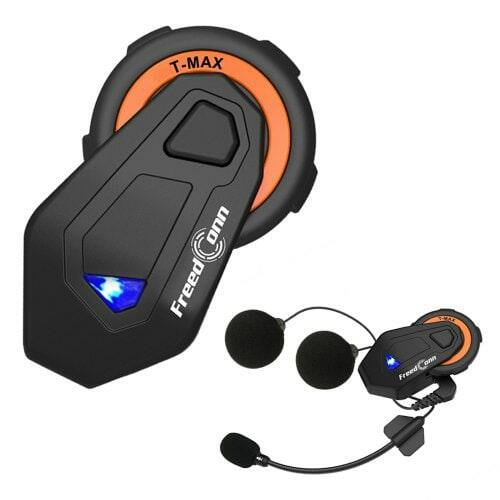 EU ECO Raktár - gocomma Freedconn T - MAX Vezetéknélküli Bluetooth Motorkerékpáros Sisak Headset - Fekete