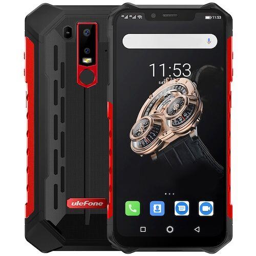 EU ECO Raktár - Ulefone Armor 6S 4G Okostelefon 6.2 inch Android 9.0 Helio P70 Octa Core 2.1GHz 6GB RAM 128GB ROM - Piros