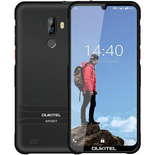 EU ECO Raktár - OUKITEL Y1000 3G Okostelefon 6.088 inch Android 9.0 MT6580P Quad Core 2GB RAM 32GB ROM - Fekete