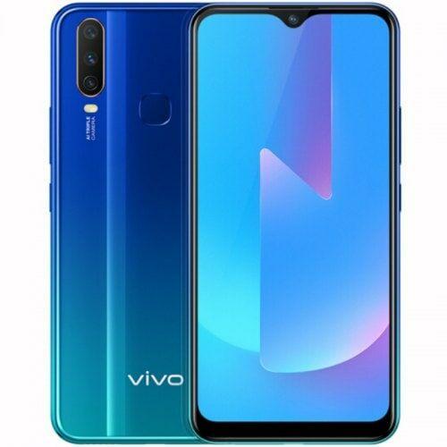 EU ECO Raktár - Vivo U3x 4G okostelefon 6.35 inch Android 9.0 Snapdragon 665 Octa Core 4GB RAM 64GB ROM - Kék