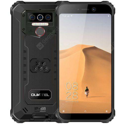 EU ECO Raktár - OUKITEL WP5 4G Okostelefon 8000mAh Battery 5.5 inch 3 előlapi Camera Android 9.0 IP68 Vízálló 4GB RAM 32GB ROM - Fekete