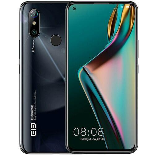EU ECO Raktár - Elephone U3H 4G Okostelefon 6.53 inch Android 9.0 Helio P70 Octa Core 6GB RAM 128GB ROM 2 előlapi Camera 3500mAh Battery Globális verzió - Fekete