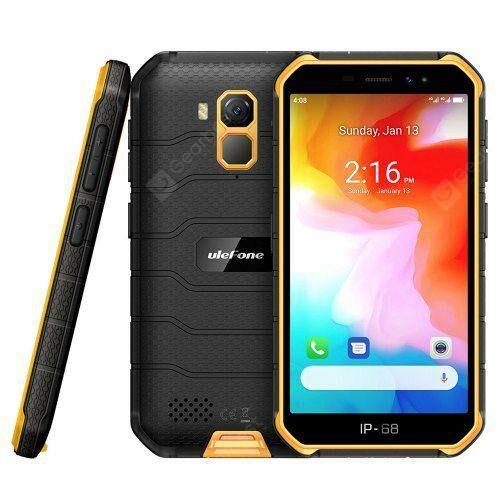 EU ECO Raktár - Ulefone Armor X7 4G Okostelefon 5 inch Android 10.0 Helio A20 MT6761VWE 2GB RAM 16GB ROM IP68 Vízálló - Narancssárga
