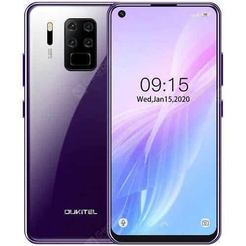 EU ECO Raktár - Oukitel C18 Pro 4G Okostelefon Helio P25 MT6757 6.55 Inch Android 9.0 előlapi Camera 16M + 2M + 8M + 5M - Lila