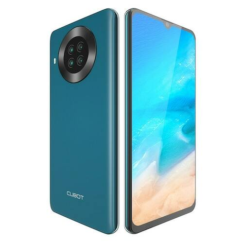 EU ECO Raktár - CUBOT NOTE 20 4G Okostelefon Helio A20 Android 10 3GB RAM + 64GB ROM 6.5 inch 12MP+20MP+0.3MP Kamera - Zöld
