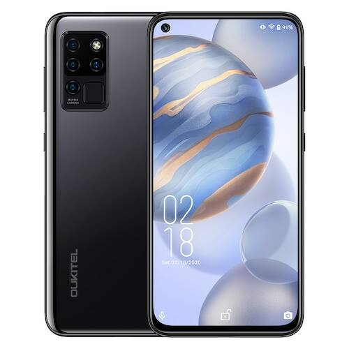 OUKITEL C21 4G Okostelefon Helio P60 Octa-Core 6.4 inch FHD Android 10 4GB RAM 64GB ROM - Fekete