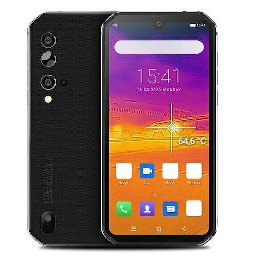 EU ECO Raktár - BlackView BV9900 Pro IP68 Vízálló 4G Okostelefon 5.84 inch FHD+ NFC 4380mAh Battery Android 9.0 Thermal by FLIR Camera 8GB RAM 128GB ROM Helio P90 Processor - Ezüst