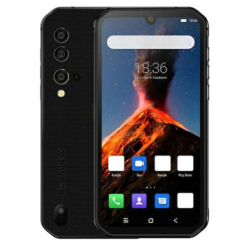 EU ECO Raktár - BlackView BV9900 Globális Bands IP68 / Vízálló 5.84 inch FHD+ NFC 4380mAh Android 9.0 48MP Quad előlapi Camera 8GB 256GB Helio P90 4G Okostelefon - Fekete