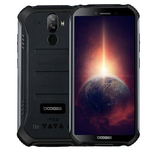 EU ECO Raktár - Doogee S40 Pro 5.45 inch IP68 / IP69K Vízálló NFC Android 10.0 4650mAh 13MP 4GB RAM 64GB ROM Helio A25 4G Okostelefon - Fekete