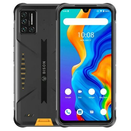 EU ECO Raktár - UMIDIGI BISON 4G IP68 IP69K Vízálló Okostelefon NFC Android 10 5000mAh 6GB 128GB Helio P60 6.3 Inch FHD+ 48MP Quad Camera - Sárga