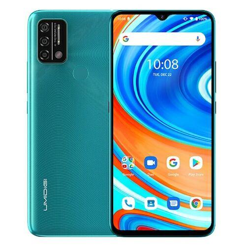 EU ECO Raktár - UMIDIGI A9 4G Okostelefon 6.53 inch HD+ Infrared Hőmérővel Android 11 5150mAh 3GB RAM 64GB ROM Helio G25 13MP - Zöld