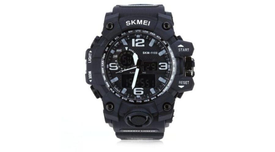 SKMEI 1155 férfi Digitális + Quartz karóra - Fekete - Férfi óra ... 18db2b7cc0