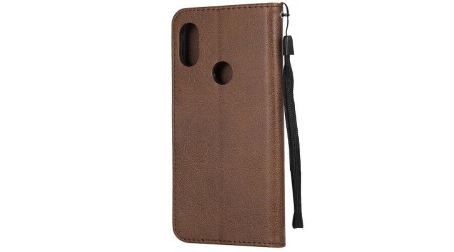 Kihajtható Bőr Flip Tok Xiaomi Redmi Note 6 Pro Készülékre - Barna ... 3c331bf7d9