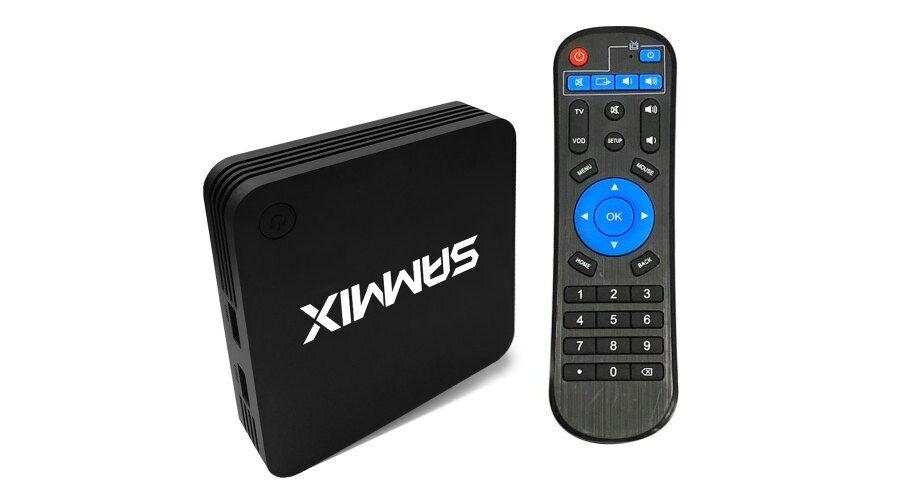 SAMMIX K91 Smart TV Box - Amlogic S905L / ARM Mali-450 / 1GB RAM + 8GB ROM  - Fekete