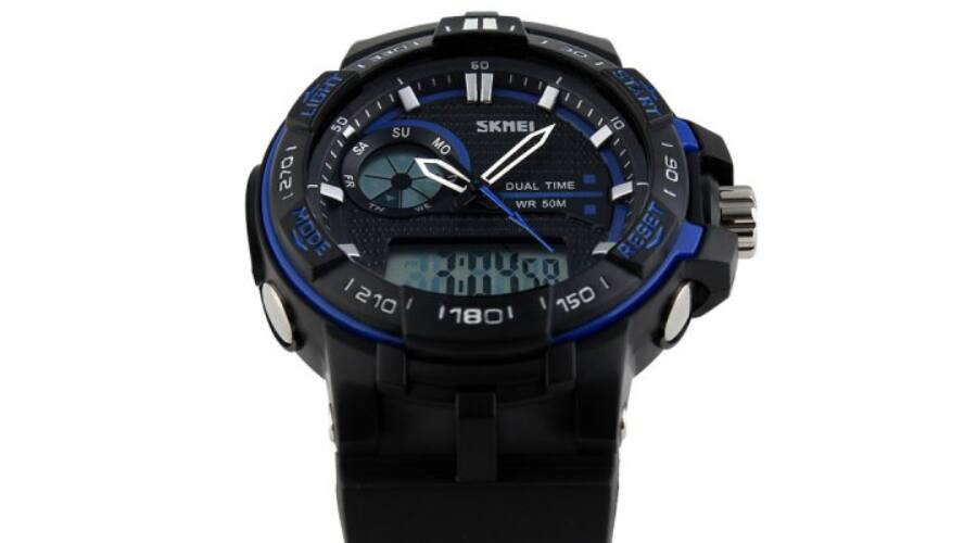 Skmei 1015 Sport katonai vízálló LED dátumos Karóra - Kék - Férfi ... 9d8df3c4ae
