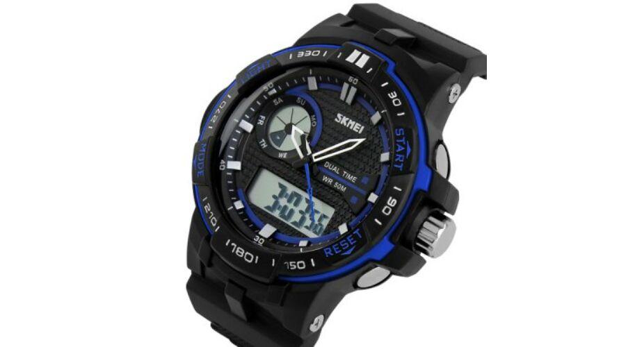 87c345adee Skmei 1015 Sport katonai vízálló LED dátumos Karóra - Kék - Férfi ...
